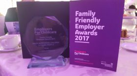 Charity Social Enterprise Winner MACS N Family Friendly awards Employer for Childcare - the award