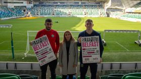 Footballers Support Belfast Sleepout 2019 3