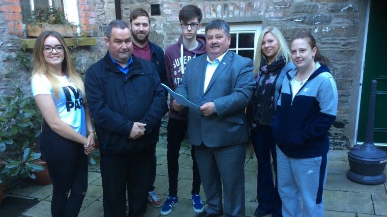 Concillor Andrews & William Walker visit MACS Downpatrick