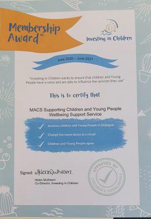 Investing In Children Award 2020 2