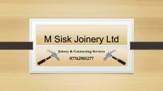 Coleraine sponsored by M Sisk Joinery Ltd