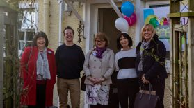 (L-R) Christine Henderson, Department of Health (DOH); Sinead O'Flaherty, MACS; Elaine Lawson, DoH Head of Looked After Children & Adoption Policy; Mary Ryan, MACS' CEO and Isobel Riddell, DoH celebrate the opening of MACS Children's Therapeutic Community in Dundrod.