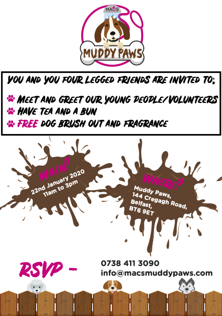 Muddy Paws Open Day Flyer