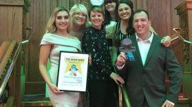 Team MACS with the Irish News award