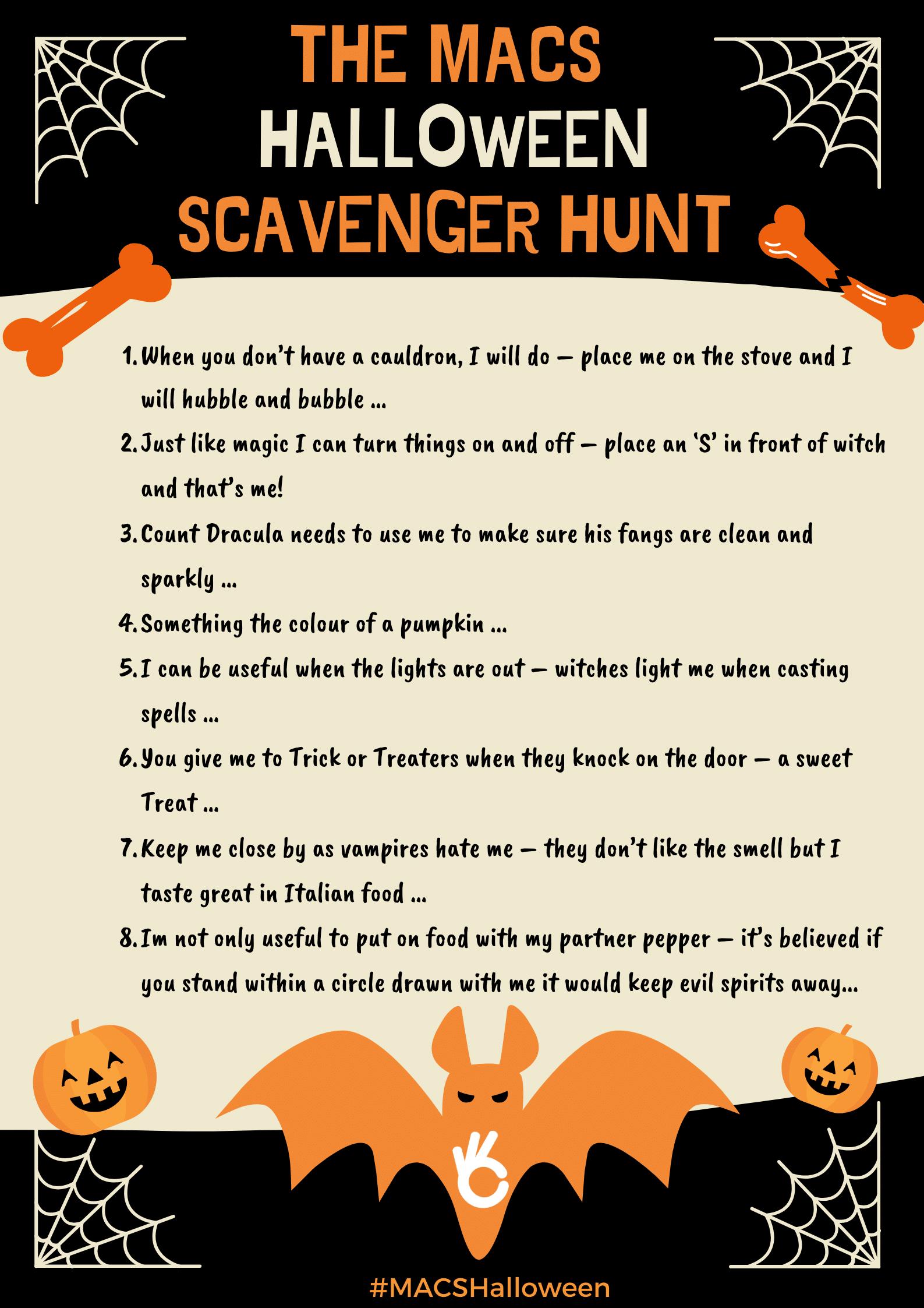 The Halloween Scavenger Hunt