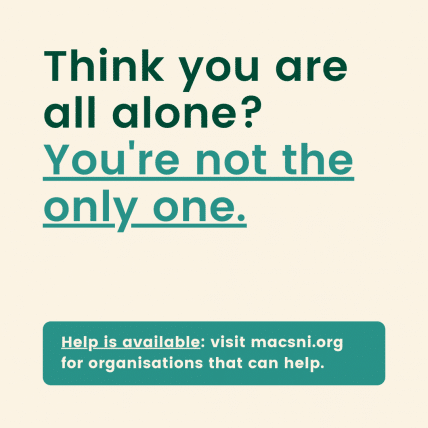 Think you are all alone? You're not the only one.