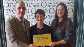 Emma & Claire presented with Investors in People Gold Award