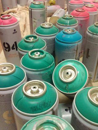lisburn grafitti cans