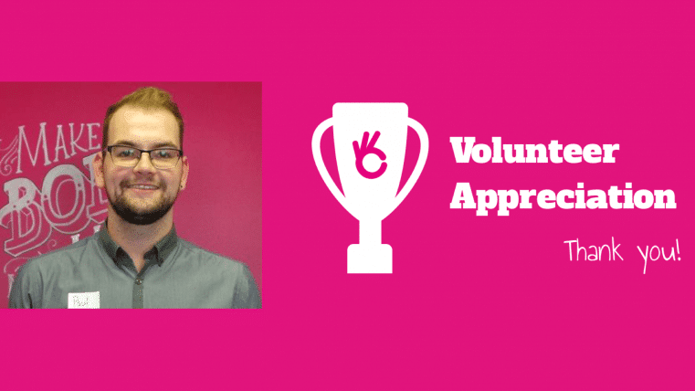 Volunteer Appreciation to Paul