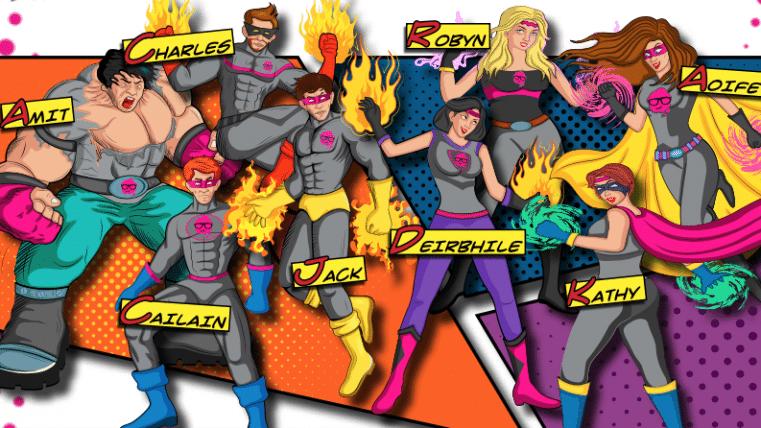 shadow board comic book characters