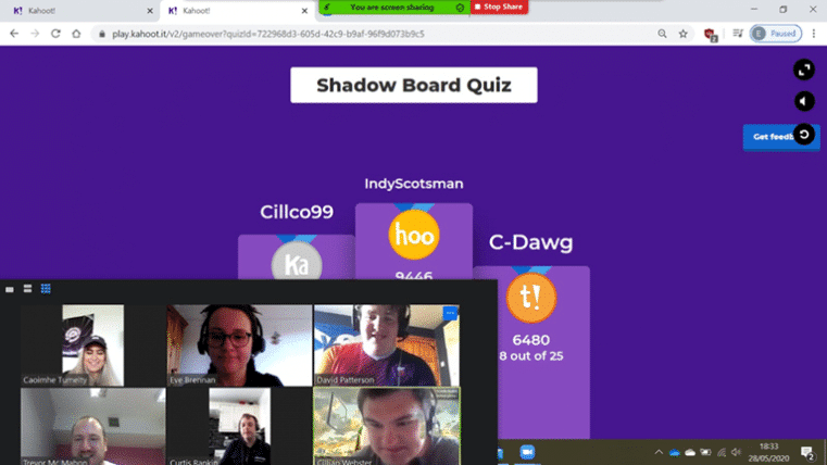 Shadow Board Quiz